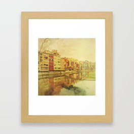 The river that reflects the city Framed Art Print