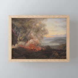 Eruption of the Volcano Vesuvius, Johan Christian Dahl, 1821 Framed Mini Art Print