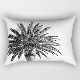 Lush Palm {2 of 2} / Black and White Sky Tree Leaves Art Print Rectangular Pillow
