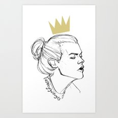 King Bun Art Print