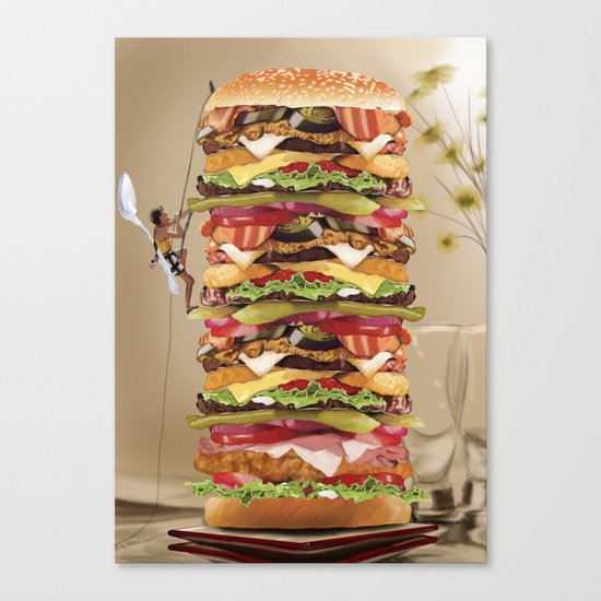 Hamburger Tower Canvas Print