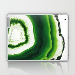 Green Agate Geode slice Laptop & iPad Skin