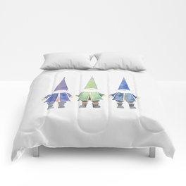 Three funny gnomes Comforters