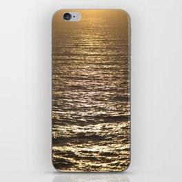 Sun ray on the sea iPhone Skin