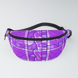 Purple Pattern. Digital Purple Pattern. Fanny Pack