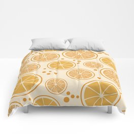 Fresh orange juice pattern, from the Orange Blossom Pattern Collection Comforters