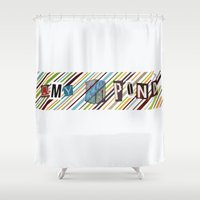 amy pond Shower Curtains featuring Amy Pond by colleencunha