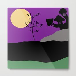 Scary Halloween Landscape Abstract Art Metal Print
