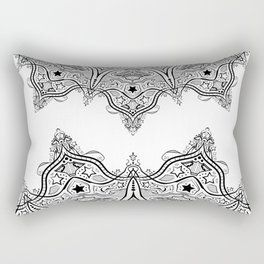 Stars and Stripes - Patriotic Mandala - Black and White - 'Merica! Rectangular Pillow