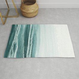 hazy emerald sea Rug