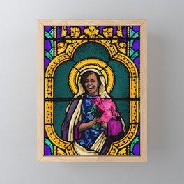 Michelle Obama: Patron Saint of Becoming Framed Mini Art Print