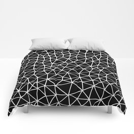 Connectivity - White on Black Comforters