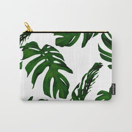 Simply Tropical Palm Leaves in Jungle Green Carry-All Pouch