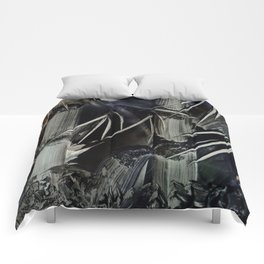 Bamboo Abstract in Encaustics Comforters