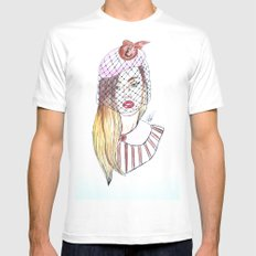 French Girl White MEDIUM Mens Fitted Tee