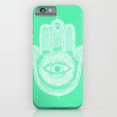 Hamsa lucky green iPhone 6 Slim Case