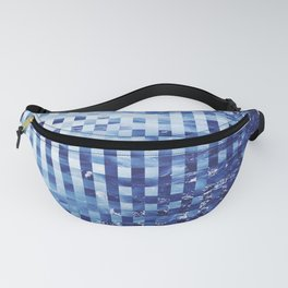 Nautical pixel abstract pattern Fanny Pack