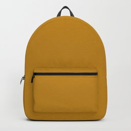 Golden Mustard Solid Color Pairs w/ Sherwin Williams 2020 Trending Color Auric Gold SW6692 Backpack