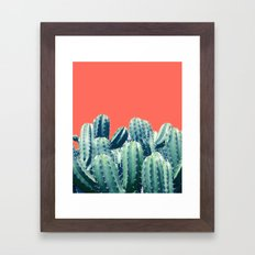 Cactus on Coral #society6 #decor #buyart Framed Art Print