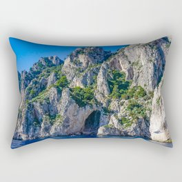 The White Grotto of the island of Capri, Italy off Naples and the Amalfi Coast Rectangular Pillow