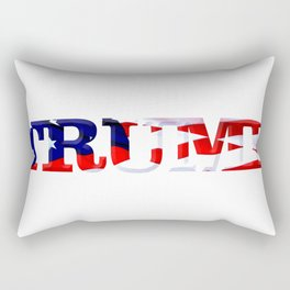 """The word """"Trump"""" ie President Trump with the American Flag from Fort McHenry overlayed. Rectangular Pillow"""