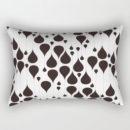 Monochrome waterdrops pattern. Rectangular Pillow