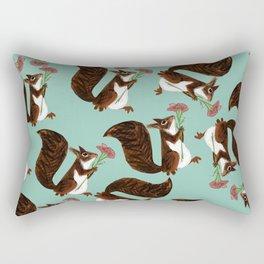 Squirrel with a flower Rectangular Pillow