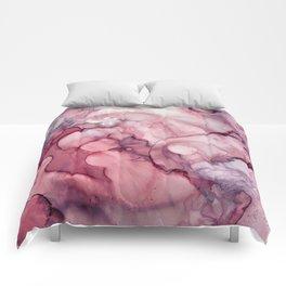 Liquid Mauve Abstract Comforters