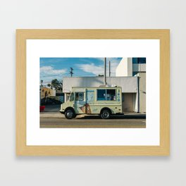 Sunset on Venice Beach Framed Art Print