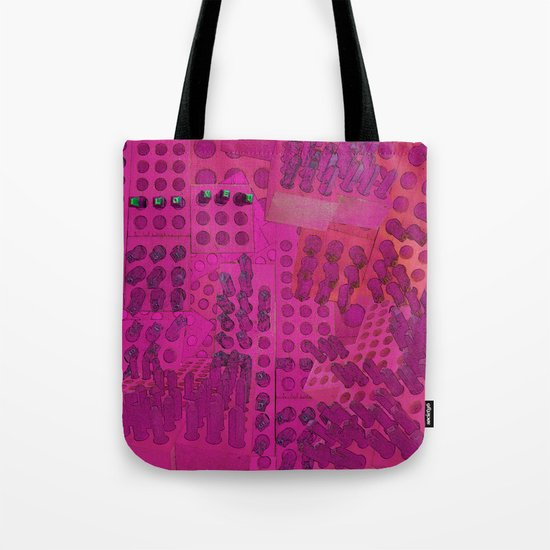 I Love You Letter Punches Abstract Pink Tote Bag