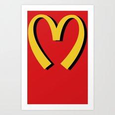 McDonald's MOSCHINO Art Print