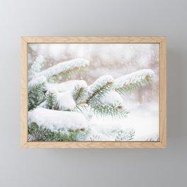 Winter Evergreen Framed Mini Art Print