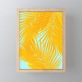 Palms Tangerine & Blue Framed Mini Art Print