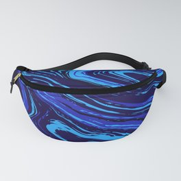 Abstract blue vivid agate slice Fanny Pack