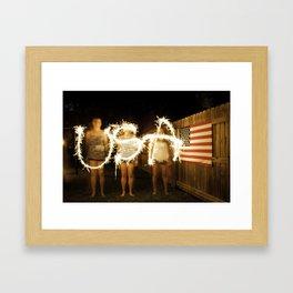 Hey Hey USA Framed Art Print