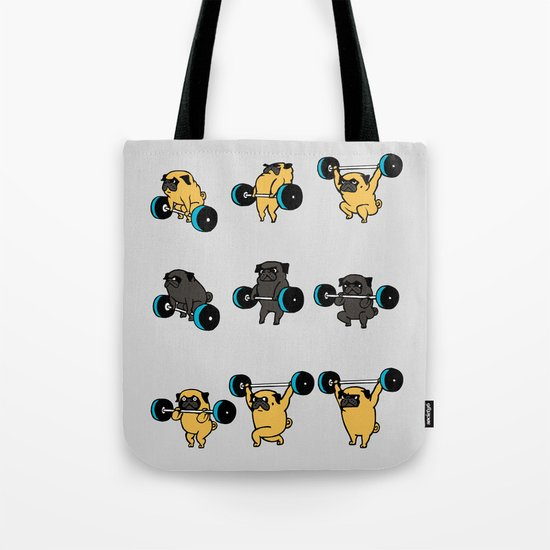 OLYMPIC LIFTING PUGS Tote Bag