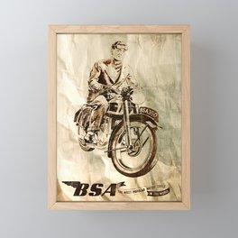BSA - Vintage Poster Framed Mini Art Print