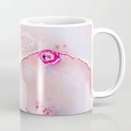 Pink Dreamy Rose Blush Agate Coffee Mug