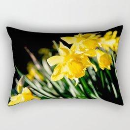 Daffodils in shadow Rectangular Pillow
