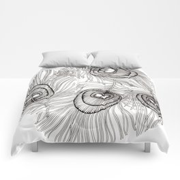 Colour-It-In Peacock Feather Poster Comforters
