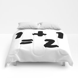 1 + 1 = 2 (One Plus One Equals 2) Comforters