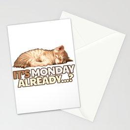 Lazy Cat - Monday Blues Stationery Cards