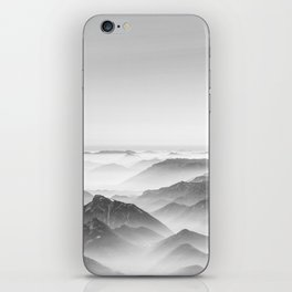 Balloon ride over the alps 2 iPhone Skin
