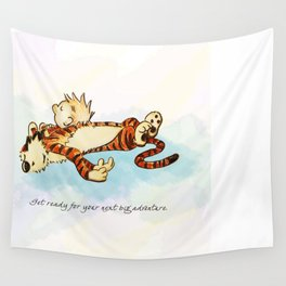 Calvin Rests for Big Adventure Wall Tapestry