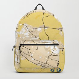 Gdynia Yellow City Map Backpack