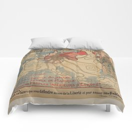Vintage poster - Prussia Comforters