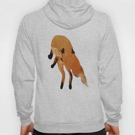 Jumping fox - white background  Hoody