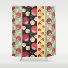 50's floral pattern Shower Curtain