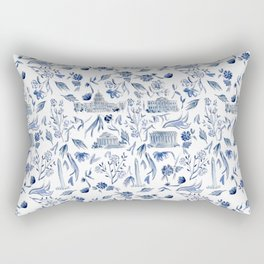 DC in Blue Rectangular Pillow