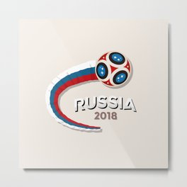 Worldcup Russia 2018 Great Metal Print